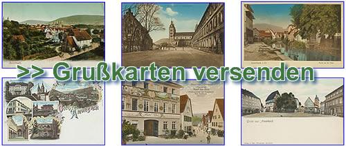 Bild: Grußkarten von Amorbach versenden mit Link zum Grußkartenmodul